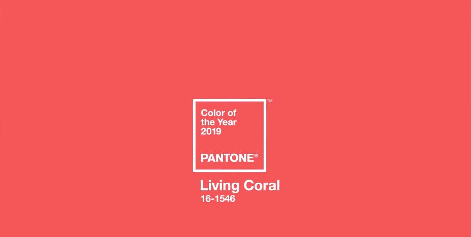Pantone 2019: Living Coral