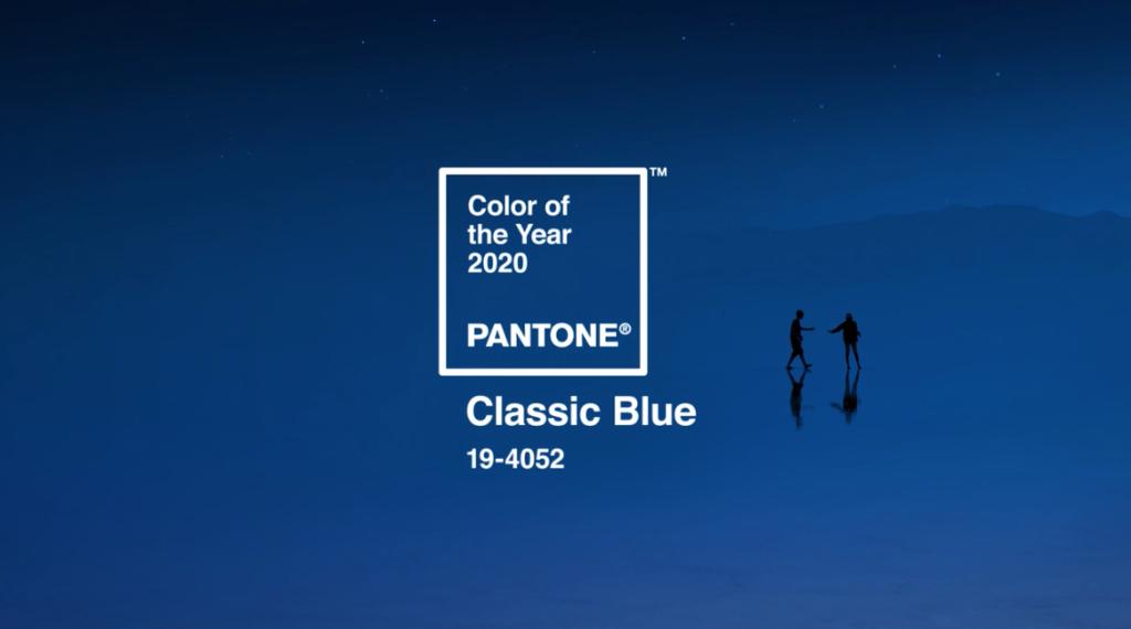 colore pantone 2020 classic blu